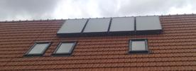 Montáž solárů a komponent kotelny